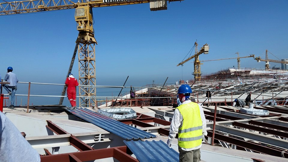 PVC Roof Project at Kuwait City