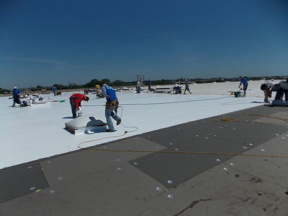 PVC System Roofing In Progress