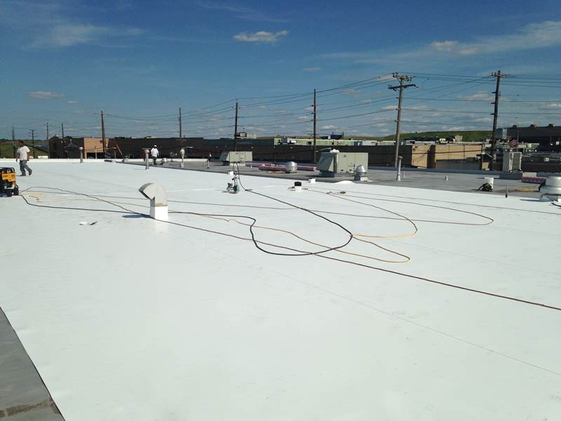 Roof Replacement with PVC Membrane
