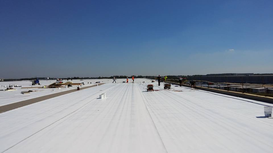 TPO Roof System in progress